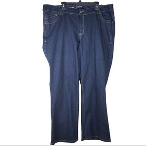 Lane Bryant Dark Wash Bootcut Jeans Plus 24 Avg